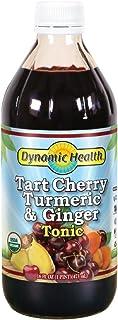 Dynamic Health Organic Tart Cherry Juice Tonic with Turmeric & Ginger   Organic and Kosher   Key Compounds   16 oz