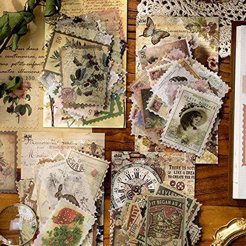 Vintage Sellos Scrapbooking, 240 piezas Pegatinas Scrapbooking Retro,Varias Pegatinas de Papel Temáticas,...
