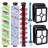 DEKIRU Compatible with Bissell Crosswave 1 Pack 2306 Multi-Surface Pet Brush Roll + 1 Pack 1934 Area Rug Brush Roll + 1 Pack Multi-Surface 1868 Brush Roll + 2 Pack 1866 Vacuum Filter Replacement Kit