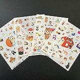 PMSMT 4 Blätter/Packung Schöne Katze DIY PVC Dekorative Aufkleber Tagebuch Album Telefon Flasche Dekor Stick Label Schreibwaren Kinder Geschenk