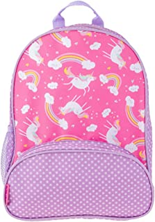 Stephen Joseph Unicorn and Rainbow Pink All Over Print Backpack Book Bag for Back to School