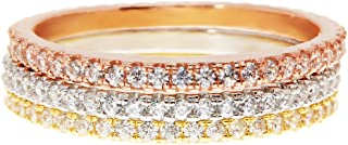 micro pave stacking rings