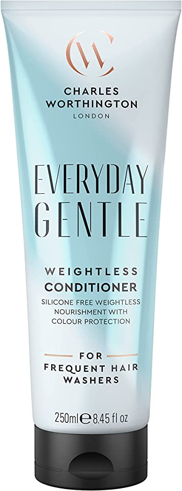 Charles Worthington Everyday Gentle Weightless Conditioner, Moisturising Conditioner to Nourish and Protect, Lightweight Hair Conditioner for Women and Men, Salon Conditioner for Everyday Use, 250 ml