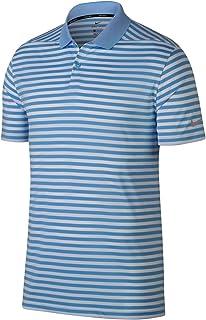 Nike New DRI FIT Victory Stripe Golf Polo University Blue/White/Black Large