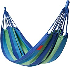 Recreation Polyester Cotton Hammock Portable Travel Hammock Outdoor Camping Garden Swing Bed Hanging Chair Lounger, Bearin...