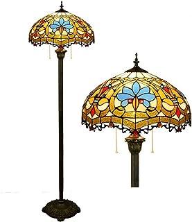 Tiffany Lampe sur pied Henley 16 pouces en verre peinture sur pied Lampe Art Deco Lampadaire Tiffany Style vintage pour salon