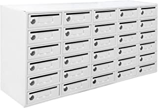 FixtureDisplays 30-Slot Cell Phone Storage Station Lockers with 5.5