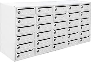 "FixtureDisplays 30-Slot Cell Phone Storage Station Lockers with 5.5""L Slot Works for Mini, Assignment Mail Slot Box 15254 No Charging Capability - for Charging Lockers Purchase SKU 15252."