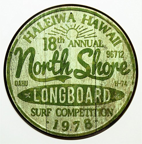 North Shore Surf Tin Sign 12 x 12in