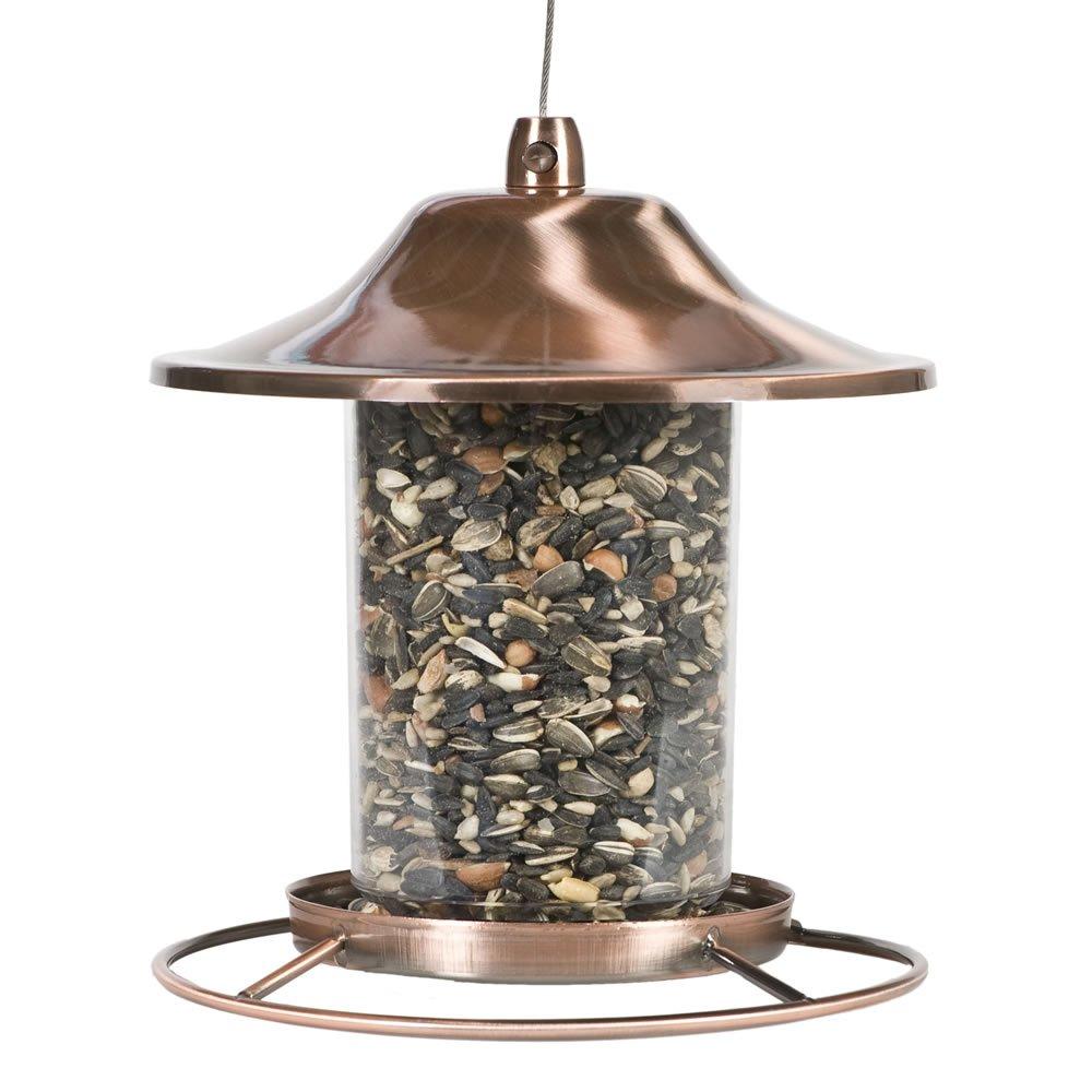 Perky-Pet Comedero para pájaros con tejado y Percha Circular ...