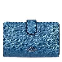 [コーチ] COACH 財布 (二つ折り財布) F23256 メタリックダークティール QBMP2 レザー 二つ折り財布 レディース [アウトレット品] [並行輸入品]