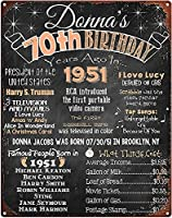 RCY-T Mini Bars For Home Wall 70th Birthday Chalkboard 1951 ブリキサイン 70 Years Ago in 1951 Born in 1951 Vintage ブリキサインs for Garage-Birthday Anniversary 01-12x8 inch