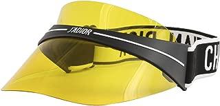 DIORCLUB1 Visor Black White/Yellow one Size fits All Unisex Sunglasses