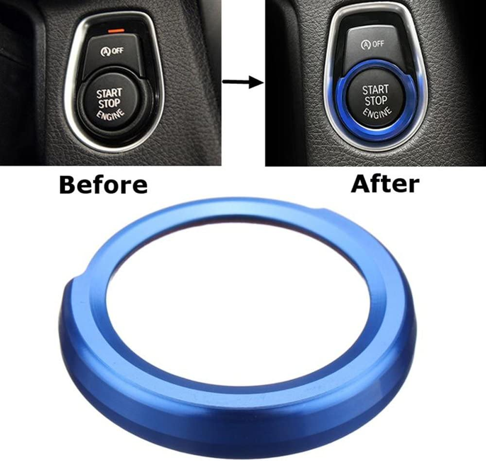 Start Stop Button Protective Cover Car Aluminium Home Button Sticker Decoration Ring For Bmw 2 3 4 Blue Auto
