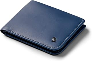 Bellroy Hide & Seek, Slim Leather Wallet, RFID Editions Available (Max. 12 Cards and Cash) - Marine Blue - RFID