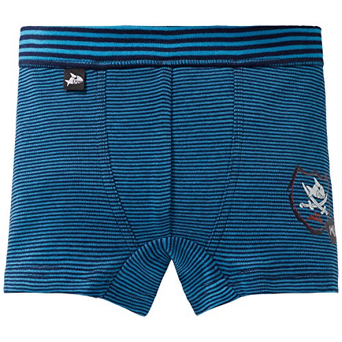 Schiesser Jungen Capt´n Sharky Hip Shorts Boxershorts, Blau (Blau 800), 98