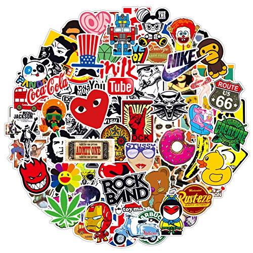 100pcs Aufklebe Cool Anime Stickers für Laptop, Vinyl Decals für Skateboard ,Fahrrad, Snowboard, Motorräder, Gepäck, Kawaii Geschenke
