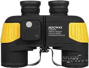 Hooway 7×50 Waterproof Fogproof Military Marine Binoculars w/Internal Rangefinder..