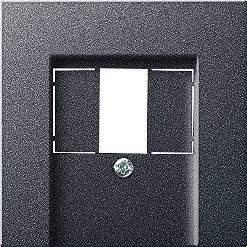 Gira 027628 Abdeckung TAE und Stereo und USB System 55, anthrazit