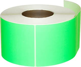 Compulabel 640056 Thermal Transfer Shipping Labels, 4 inch x 6 inch, Pastel Green, Permanent Adhesive, Perforations Between Labels, 1000 Per Roll, 4 Rolls