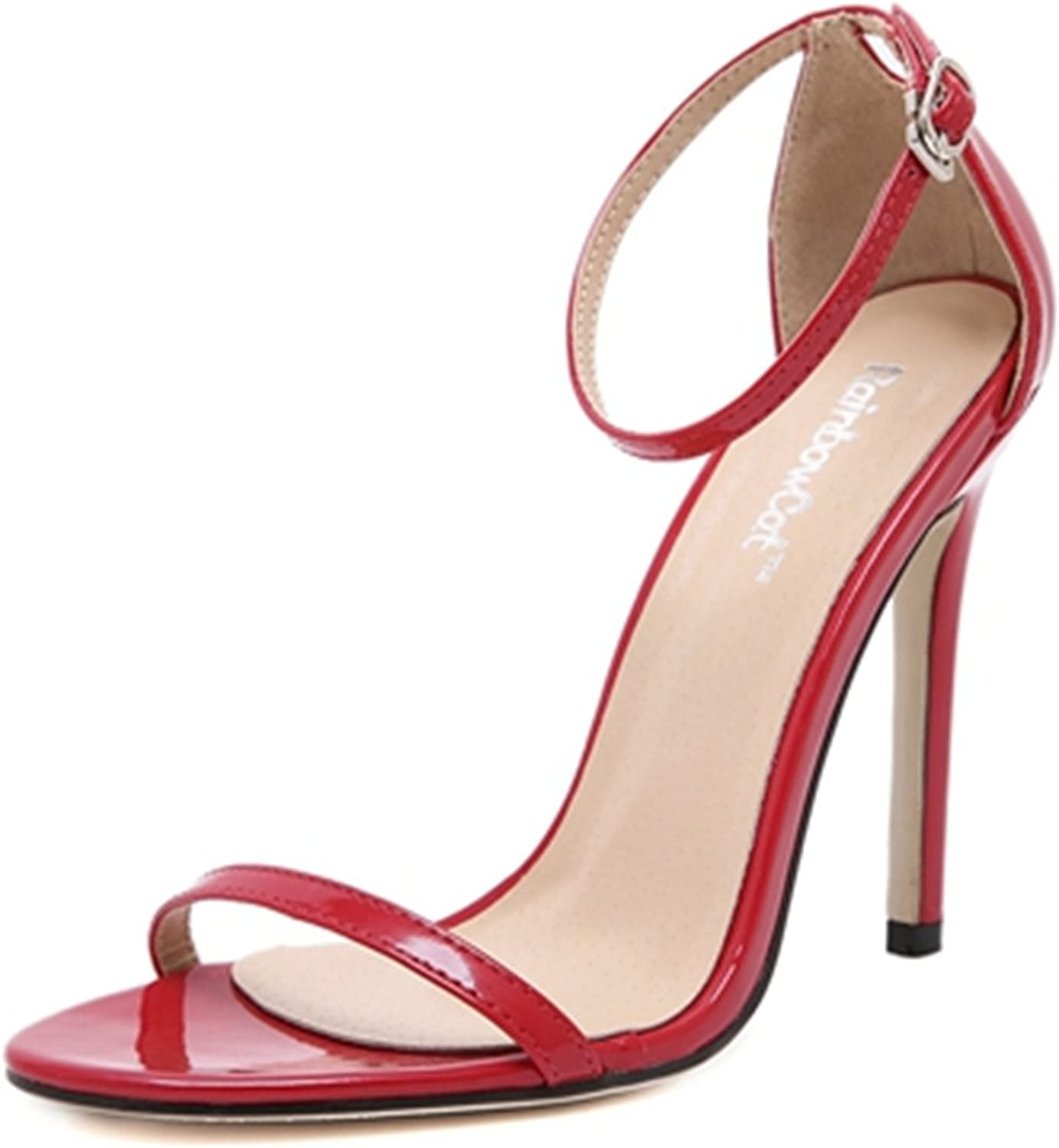 Robert Westbrook Woman Summer shoes T-Stage Classic Dancing High Heel Sandals Sexy Stiletto Party Wedding shoes Yd190 Red 5.5