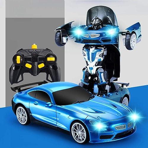 GLBS Fernbedienung Auto Spielzeug Rc Auto Wiederaufladbare Vier Rad Stunt Auto 3D Verformung Racing Fahrzeug Safe & Durable 2,4 GHz High Speed Rennwagen Funksteuerung Spielzeug Für Kinder
