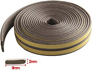 Weather Stripping Sealing Soundproofing Self-Adhesive Insulation Doors and Windows Draught Excluder Foam Seal Strip Collision Avoidance Rubber (I Type Coffee 39ft)