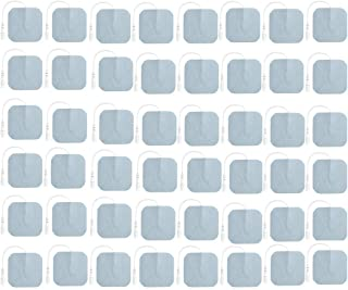 TENS Unit Pads 48 Pack Wired Self-Adhesive Electrodes Premium Replacement Pads for TENS واحد - 2x2 اینچ (بسته 2x2-48)