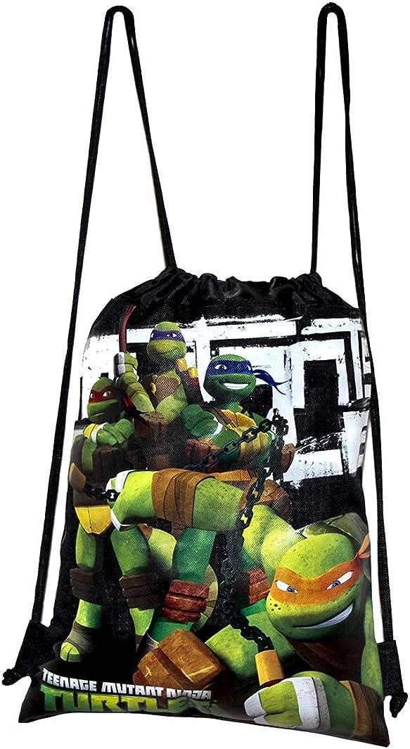 Ninja Turtles Black Drawstring Bags