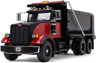 First Gear 1/50 Scale Diecast Collectible Black/Red Peterbilt Model 367 Dump Truck (50-3407)