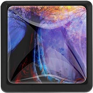Art Forest - Tirador de cajón de cristal con forma cuadrada 3 piezas