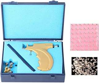 1 Set Healthy Safety Asepsis Stainless Steel Ear Eyes Navel Lips Nose Body Ring Piercing Tattoo Gun Tools Kit with 108 Ear Studs Earrings + Sign Pen + Storage Case