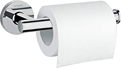 hansgrohe 41726000 Logis Universal Toilet Roll Holder Without Cover Bathroom Accessories, Chrome