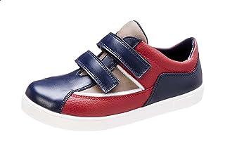 حذاء رياضي للاولاد جلد صناعي بشريط فيلكرو ملون من بلينو
