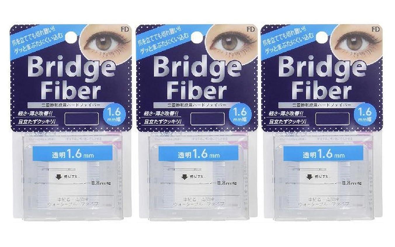 大気ちっちゃい途方もないFD ブリッジファイバーII (眼瞼下垂防止テープ) 3個セット 透明 1.6mm