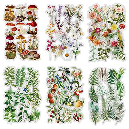 240 hojas Scrapbook Stickers Pegatinas de flores Etiqueta de la decoración Planificador de pegatinas Pegatinas de plantas para Scrapbooking Diary Journals Artes y manualidades de bricolaje (Monet)