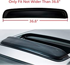 ZR 1pc Thickness Universal 38 inches Tint Top Moon Roof Moonroof with Grooves Dark Smoke Rain Wind Sun Shade Vent Guard Visor Deflector