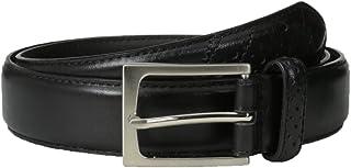 Florsheim Men's 32 mm Full Grain Leather Wingtip Belt, Black, 44