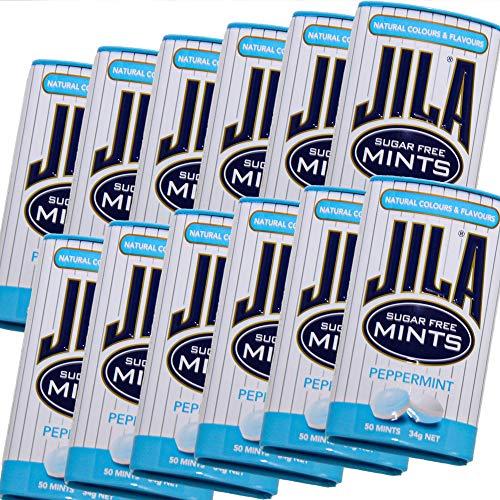 ジラ JILA ミントタブレット ペパーミント 34g 12缶セット 送料無料 少し大きめ粒 海外