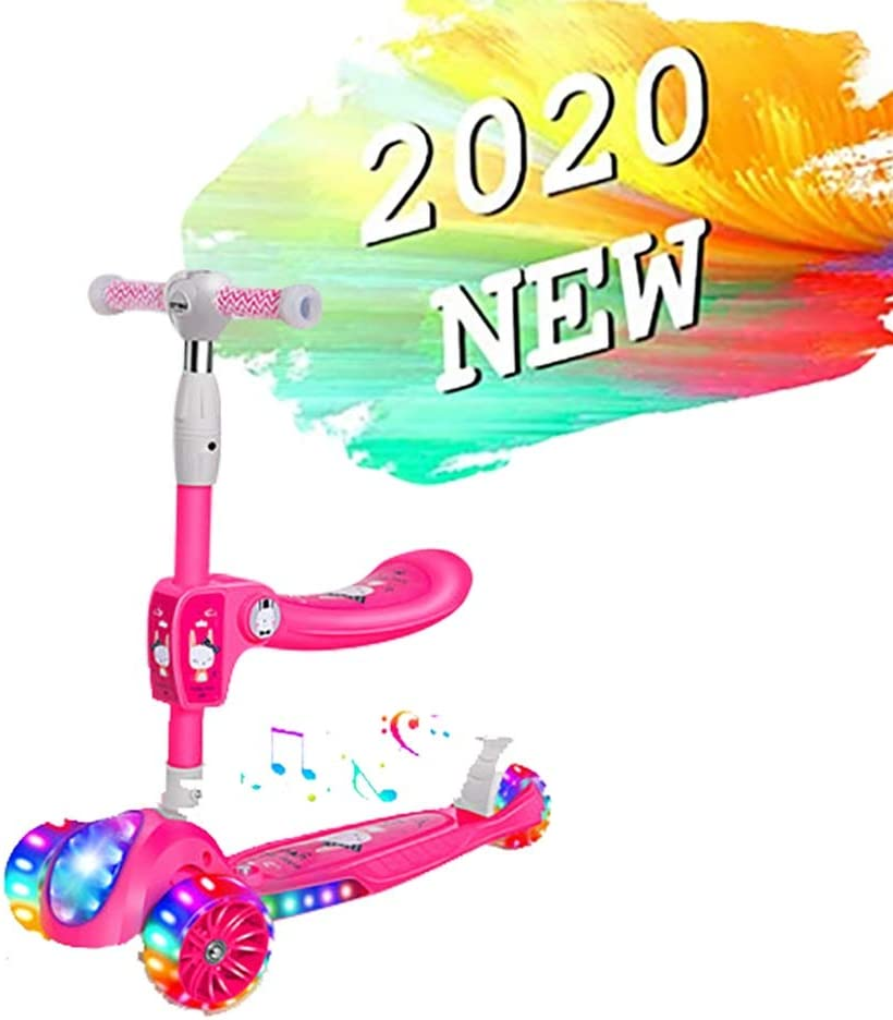 GAOTTINGSD Patinetes para Niños Scooter for Niños, Patinete Plegable Altura Ajustable Desde 61.5cm~78.5cm Carga Máxima 50 kg con sedile