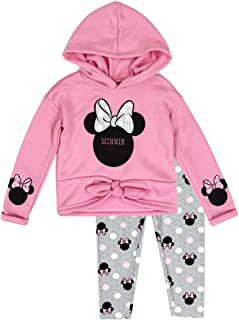 Little Girls' Toddler Minnie Mouse Pullover Hoodie and Leggings Set
