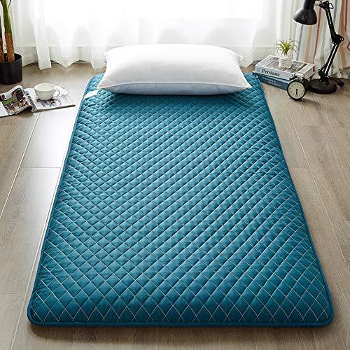 Love House Traditionelle Japanische Tatami Stock-matratze, Gesteppter Folding Futon Matratze Weich Dick Schlafen Pad Camping Portable Gästebett-dunkelblau 120x200cm(47x79inch)