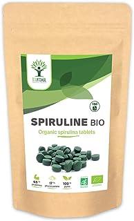 Spiruline Bio - Bioptimal - BCAA - Complément alimentaire - Spiruline - Energie - 65% de Protéine - 17% de Phycocyanine - ...