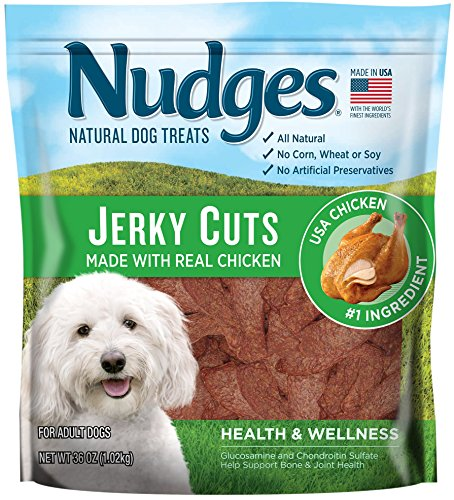 Nudges Natural Dog Treats Jerky Cuts Made with Real Chicken