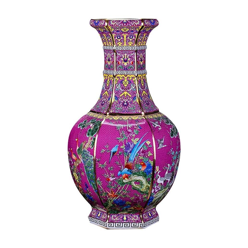 理容師ポジティブバブル花器 デコレーションホーム世帯ウェディングリビングルームベッドルームオフィス表ピンクのための花瓶セラミッククラシッククリエイティブハイグレード 花瓶 (Size : S (16 x 26 cm))