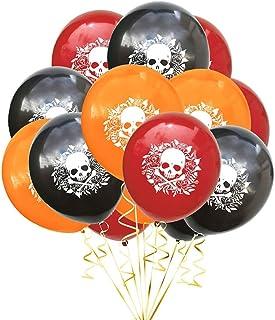 30Pcs 12 Inch Halloween Latex Balloons Set Skull Printed Balloons Confetti Balloon Halloween Decoration kit Qingchunw