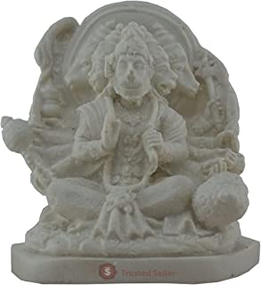 TRUSTED SELLER 5 Face Panch Mukhi Hanuman Ji Statue Idol Handmade Poly Marble Home Decor Art Best Gift