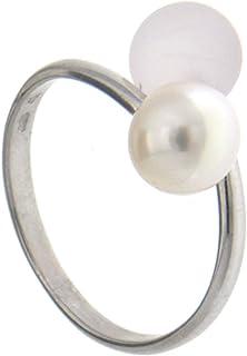 Adriana dreambase-anello 925 argento rodiato luenette Gelato rosa perla-acqua dolce misura 54 (17,2) Regolabile - AGR4 - G...