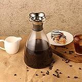 ecooe Glaskaraffe 1500ml (Volle Kapazität) Glaskrug aus Borosilikatglas Wasserkrug mit Edelstahl Deckel Karaffe Glaskanne mit Edelstahldeckel - 9