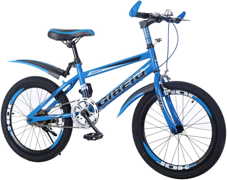 Kids' Bikes 18'' Single Speed Cycling Dual Disc Brake Spoke Mountain Bike Special Saddle High Carbon Steel Frame,bluee